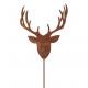 Metal plug deer head, height 120cm, rod length 1